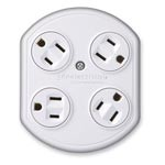 360 Electrical Rotating Power Surge Protector Adapters