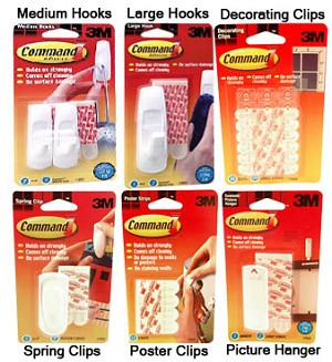3M Innovation Adhesive Hooks and Hangers