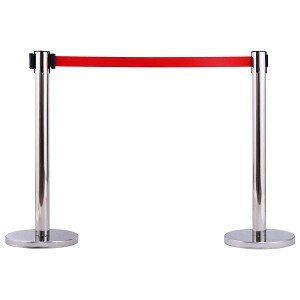 Retractable Belt Stainless Steel Stanchions - Electriduct