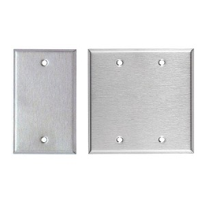 Blank Wall Plates - Stainless Steel