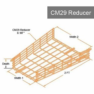 CM29 Heavy-Duty Reducer (0.187 in. Ø cold rolled Steel)