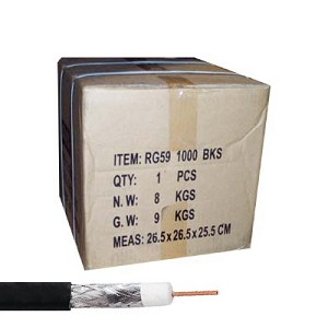 Dual Shield RG59 Copper Coaxial Cables