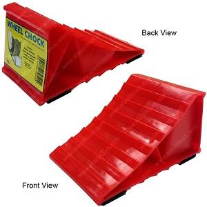 Red Plastic Wheel Chock - Electriduct