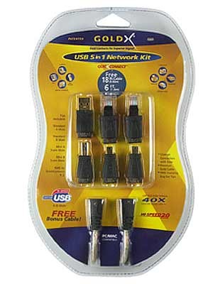 GoldX USB 5 in 1 QuickConnect™ Network Kit
