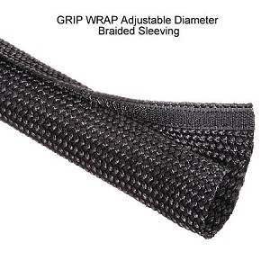 GRIP WRAP Adjustable-Diameter Braided Sleeving