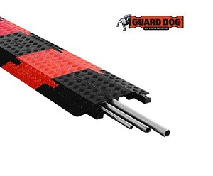 Guard Dog 3 Channel Drop Over Cable Protectors w/ Dog-Bone Connectors