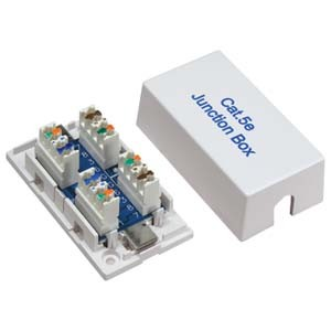 White Cat5E/Cat6 Junction Box Punch Down Type