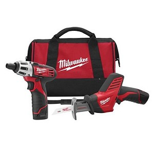 Milwaukee M12 Screwdriver & Hacksaw Combo Kit