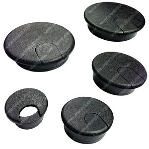 2 Piece Flip-Top Plastic Desk Grommets - Doug Mockett Co.