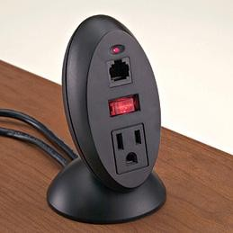 Mockett Tool-Free Power and Data Desktop Outlet