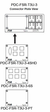 PDC-T3U-3 Faceplates by FSR