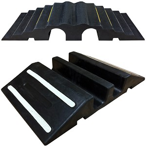Extreme Rubber Dual Channel Pipe & Hose Ramp Bridges - RPS