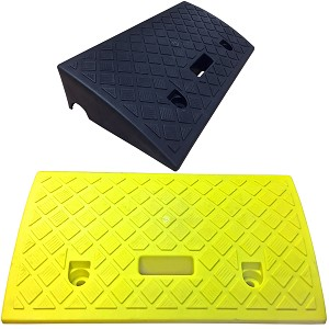 "4"" Polypropylene Plastic Portable Curb Ramps - Electriduct"
