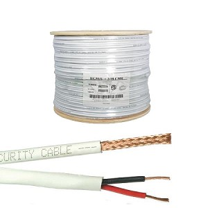 RG59 CMR Rated Copper Coaxial Cable w/2x18AWG Power Wire
