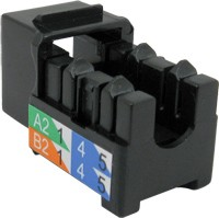 V-Max RJ45 90 CAT5E  Keystone U-Jacks