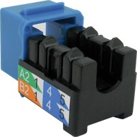 V-Max RJ45 90 CAT6A Keystone U-Jacks