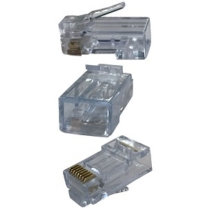 High Speed Pass-Through RJ45 Connectors & Tools - Cat5/Cat6