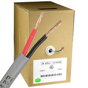 18AWG/2 Stranded Power CMR Copper CCTV Wires