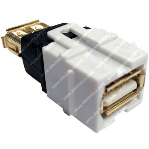 USB Keystone Jack - 2.0 A Female to A Female Coupler